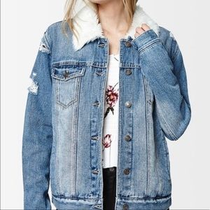 pac sun fur jean jacket